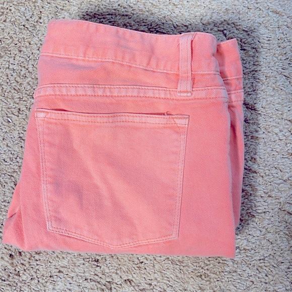 J. Crew neon toothpick pants